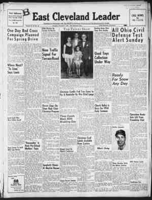 East Cleveland Leader Gazetesi 3 Aralık 1953 kapağı