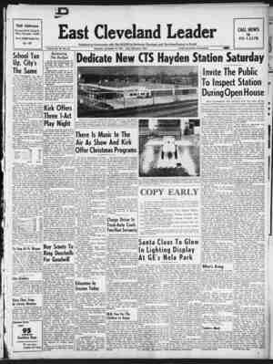 East Cleveland Leader Gazetesi 10 Aralık 1953 kapağı