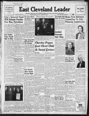 East Cleveland Leader Gazetesi 17 Aralık 1953 kapağı