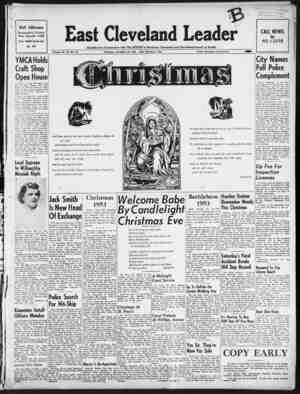 East Cleveland Leader Gazetesi 24 Aralık 1953 kapağı
