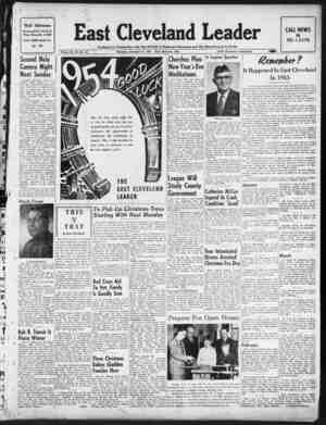 East Cleveland Leader Gazetesi 31 Aralık 1953 kapağı