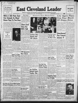 East Cleveland Leader Gazetesi 7 Ocak 1954 kapağı