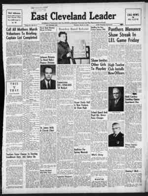 East Cleveland Leader Gazetesi 14 Ocak 1954 kapağı