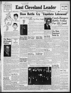 East Cleveland Leader Gazetesi 28 Ocak 1954 kapağı