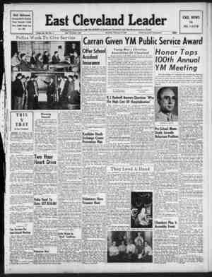 East Cleveland Leader Gazetesi 4 Şubat 1954 kapağı