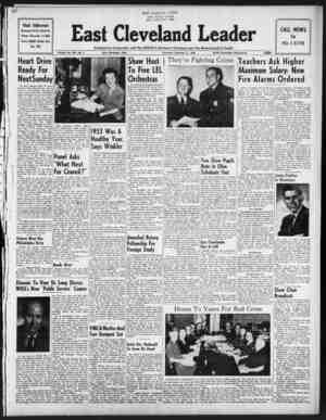 East Cleveland Leader Gazetesi 11 Şubat 1954 kapağı