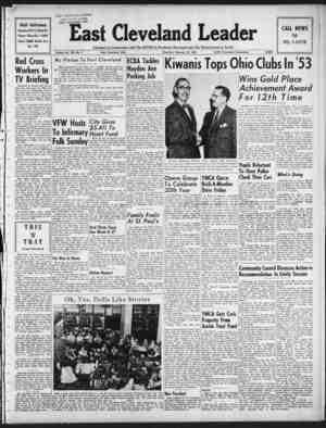 East Cleveland Leader Gazetesi 18 Şubat 1954 kapağı