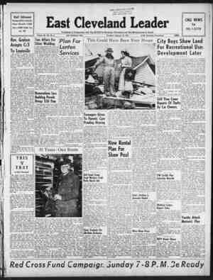 East Cleveland Leader Gazetesi 25 Şubat 1954 kapağı