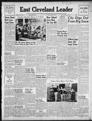 East Cleveland Leader Gazetesi 4 Mart 1954 kapağı