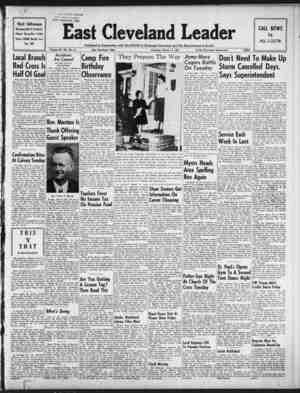 East Cleveland Leader Gazetesi 11 Mart 1954 kapağı