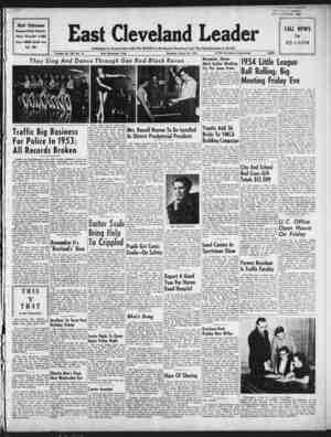 East Cleveland Leader Gazetesi 25 Mart 1954 kapağı