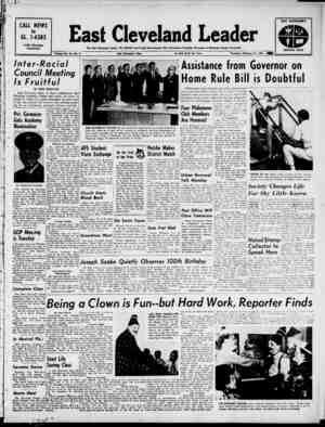 East Cleveland Leader Gazetesi 21 Şubat 1963 kapağı