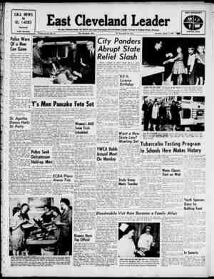 East Cleveland Leader Gazetesi 7 Mart 1963 kapağı