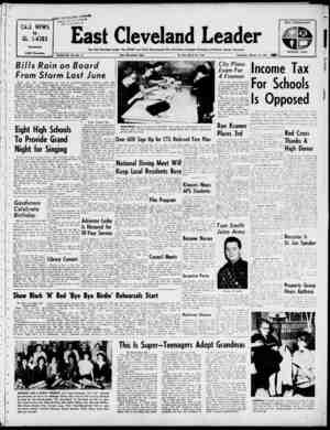 East Cleveland Leader Gazetesi 14 Mart 1963 kapağı
