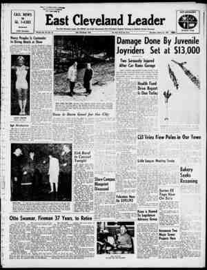 East Cleveland Leader Gazetesi 21 Mart 1963 kapağı