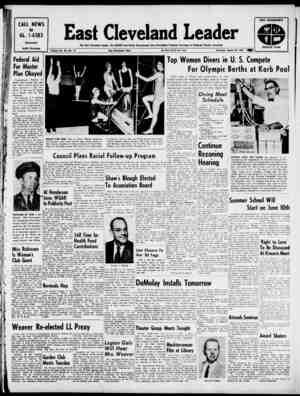 East Cleveland Leader Gazetesi 28 Mart 1963 kapağı