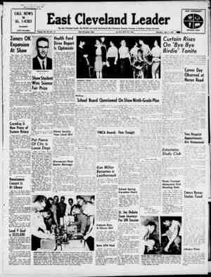 East Cleveland Leader Gazetesi 4 Nisan 1963 kapağı