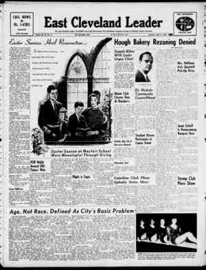 East Cleveland Leader Gazetesi 11 Nisan 1963 kapağı