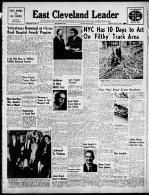 East Cleveland Leader Gazetesi 25 Nisan 1963 kapağı
