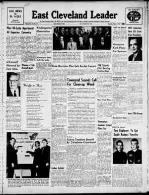 East Cleveland Leader Gazetesi 2 Mayıs 1963 kapağı