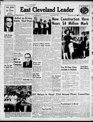 East Cleveland Leader Gazetesi 9 Mayıs 1963 kapağı