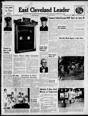 East Cleveland Leader Gazetesi 16 Mayıs 1963 kapağı