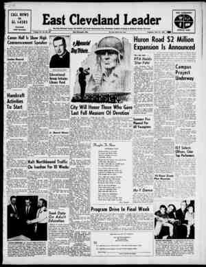 East Cleveland Leader Gazetesi 30 Mayıs 1963 kapağı