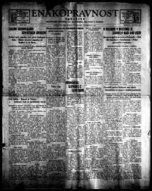 Enakopravnost Gazetesi 30 Kasım 1942 kapağı
