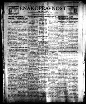 Enakopravnost Gazetesi 1 Aralık 1942 kapağı