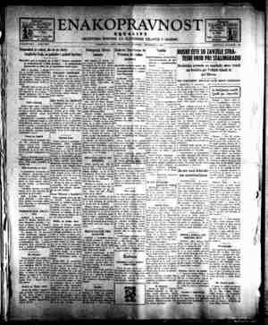 Enakopravnost Gazetesi 3 Aralık 1942 kapağı