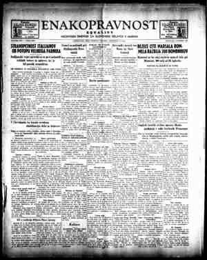 Enakopravnost Gazetesi 15 Aralık 1942 kapağı