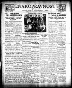 Enakopravnost Gazetesi 19 Aralık 1942 kapağı