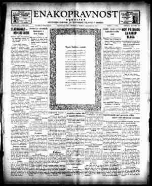 Enakopravnost Gazetesi 23 Aralık 1942 kapağı