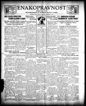 Enakopravnost Gazetesi 31 Aralık 1942 kapağı