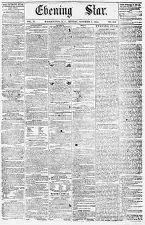Evening Star Gazetesi 9 Ekim 1854 kapağı