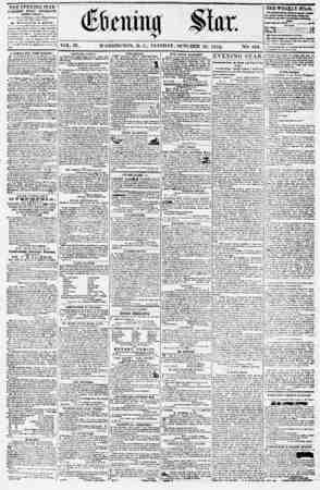 Evening Star Gazetesi 10 Ekim 1854 kapağı