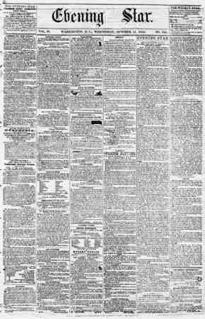 Evening Star Gazetesi 11 Ekim 1854 kapağı