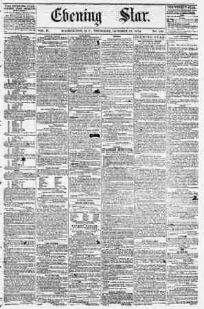 Evening Star Gazetesi 12 Ekim 1854 kapağı