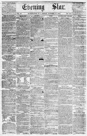 Evening Star Gazetesi 13 Ekim 1854 kapağı