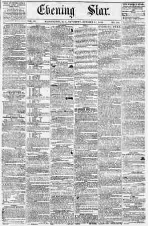 Evening Star Gazetesi 14 Ekim 1854 kapağı