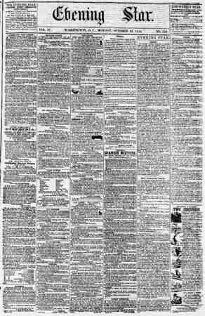 Evening Star Gazetesi 16 Ekim 1854 kapağı