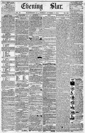 Evening Star Gazetesi 17 Ekim 1854 kapağı
