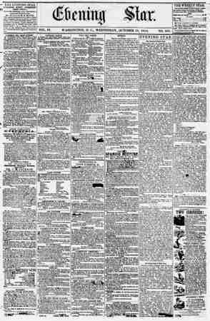 Evening Star Gazetesi 18 Ekim 1854 kapağı