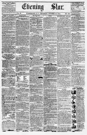 Evening Star Gazetesi 19 Ekim 1854 kapağı