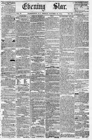Evening Star Gazetesi 23 Ekim 1854 kapağı