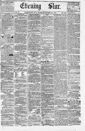 Evening Star Gazetesi 24 Ekim 1854 kapağı