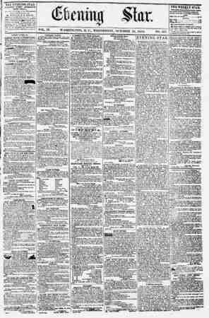 Evening Star Gazetesi 25 Ekim 1854 kapağı