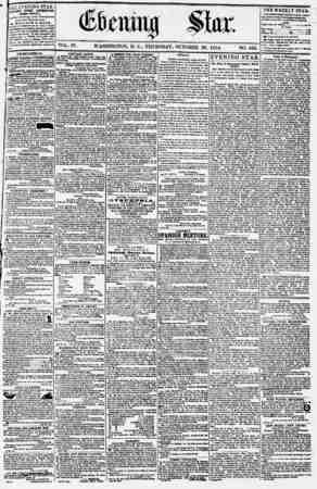 Evening Star Gazetesi 26 Ekim 1854 kapağı