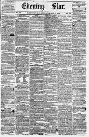 Evening Star Gazetesi 27 Ekim 1854 kapağı