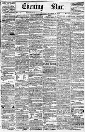Evening Star Gazetesi 28 Ekim 1854 kapağı
